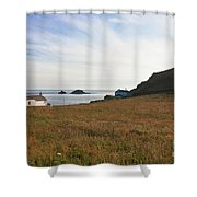 View From St Helen's Oratory Cape Cornwall Shower Curtain