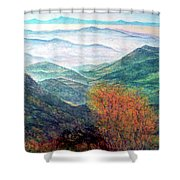 View From The Autumnal Belchen   Shower Curtain