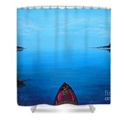 View From The Beach Shower Curtain