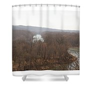 View From The Bluff Shower Curtain