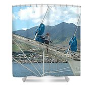 St. Kitts From The Bow Shower Curtain