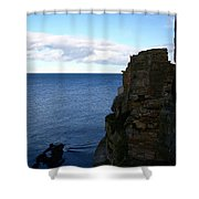 View From The Castle Shower Curtain