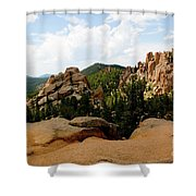 View From The Crags Shower Curtain