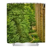 View From The Lllangollen Aqueduct In Wales Shower Curtain