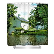 View From The Mill Pond Centerbrook Ct Shower Curtain