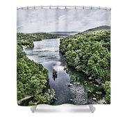 View From The Monksville Bridge Shower Curtain