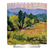 View From The Orchard Shower Curtain
