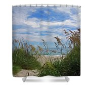 View From The Outer Banks Dunes Shower Curtain
