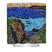 View From The Pacific Coast Highway Shower Curtain