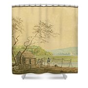 View From The Packet Wharf At Frenchtown Looking Down Elk Creek Shower Curtain