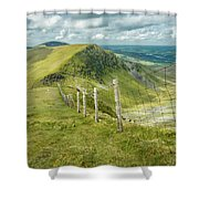 View From The Rangers Path Shower Curtain by Nick Bywater