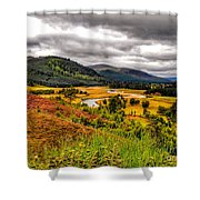 View From The River Dee Shower Curtain