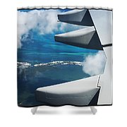 View From The Sky Shower Curtain