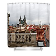 View From The Top In Prague Shower Curtain