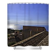 View From The Top In Sicily Shower Curtain