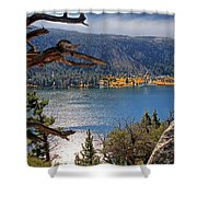View From The Top Of June Lake Shower Curtain