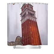 View From The Top Of St Marks Basilica Shower Curtain