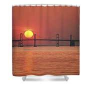 View From The Water Of The Chesapeake Shower Curtain