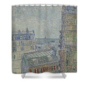 View From Theo S Apartment Paris, March - April 1887 Vincent Van Gogh 1853  1890 Shower Curtain