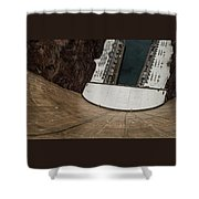 View From Top Of Hoover Dam Shower Curtain
