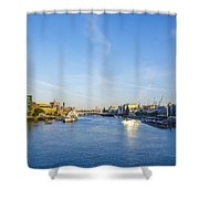 View From Tower Bridge Shower Curtain