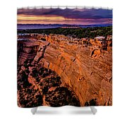 View From Upper Ute Canyon, Colorado National Monument Shower Curtain