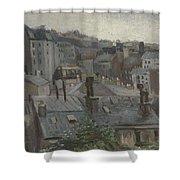 View From Vincent S Studio Paris, June 1886 Vincent Van Gogh 1853  1890 Shower Curtain