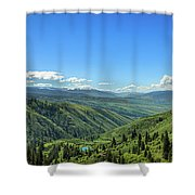 View From White Bird Hill Shower Curtain