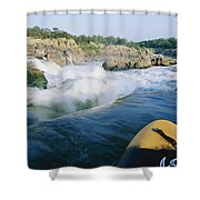 View From Whitewater Kayak At The Top Shower Curtain