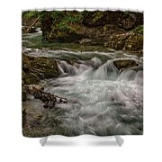 View In Vintgar Gorge #2 - Slovenia Shower Curtain