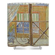 View Of A Butcher S Shop Arles, February 1888 Vincent Van Gogh 1853  1890 Shower Curtain