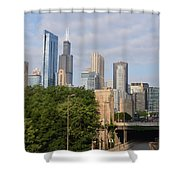 View Of A City Shower Curtain