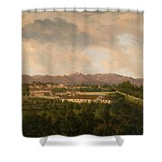View Of A Mine In Mineral Del Pozos Shower Curtain