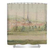 View Of A Town In Saxony Shower Curtain
