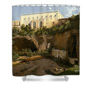 View Of A Villa, Pizzofalcone, Naples Shower Curtain