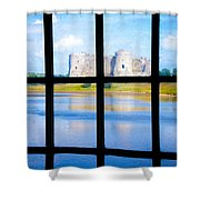 View Of A Wales' Castle Shower Curtain