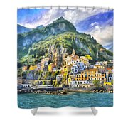 View Of Amalfi Shower Curtain