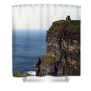 View Of Aran Islands And Cliffs Of Moher County Clare Ireland  Shower Curtain