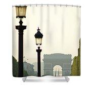 View Of Arc De Triomphe Shower Curtain