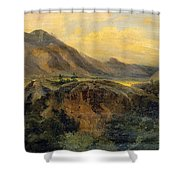 View Of Bagneres De Luchon. Pyrenees Shower Curtain