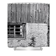 View Of Barn Exterior Shower Curtain