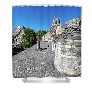 View Of Becan, Mexico Shower Curtain