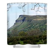 View Of Benbulben From Glencar Lake Ireland Shower Curtain