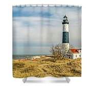 View  Of Big Sable Point Michigan Shower Curtain