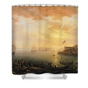 View Of Brest Harbor Shower Curtain
