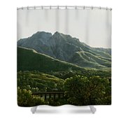 View Of Bridge And The Town Of Cava, Kingdom Of Naples Shower Curtain
