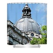 View Of Brompton Oratory Dome Kensington London England Shower Curtain