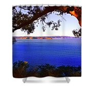 View Of  Central Coast From West Head  Shower Curtain
