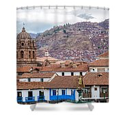 View Of Central Cuzco Peru Shower Curtain