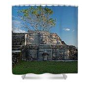 View Of Cerros Maya Ruins At Cerros Shower Curtain